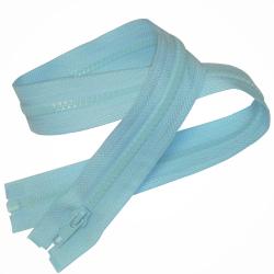 Fermeture Eclair 60 cm Coloris Bleu Clair pour Blouson Anorak Polaire Maille Plastique injectée 5 mm
