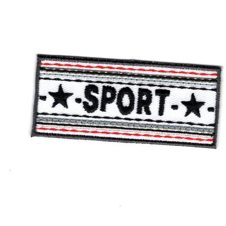 Patch Ecusson Thermocollant Sport Etoile Coloris Blanc 2,50 x 6 cm