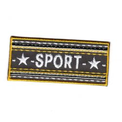 Patch Ecusson Thermocollant Sport Etoile Coloris Gris 2,50 x 6 cm