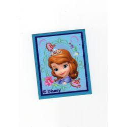 Patch Ecusson Thermocollant Princesse Sofia 5,50 x 6,50 cm cadre bleu