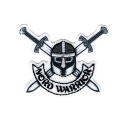 Patch Ecusson Thermocollant Viking North Warrior 4 x 5 cm