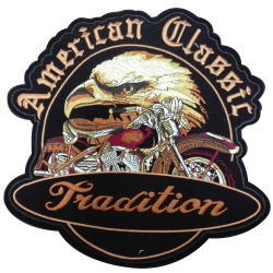 Patch Ecusson Thermocollant XXL Aigle Moto American Eagle 25 x 25 cm