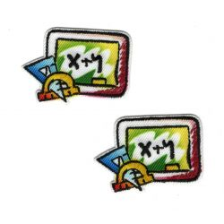 Patch Ecusson Thermocollant 2 x Ardoise Tableau Ecole 2,50 x 3,50 cm