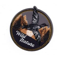 Patch Ecusson Thermocollant Wild Nature Sauvage Canard 5 x 5 cm