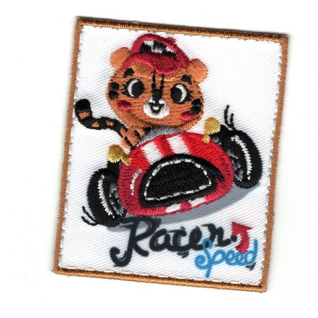 Patch Ecusson Thermocollant Ours Speed Racer 5 x 6 cm