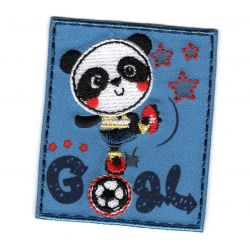 Patch Ecusson Thermocollant Panda Foot Goal 5 x 6 cm