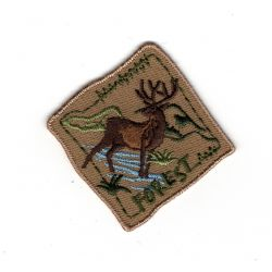 Patch Ecusson Thermocollant Foret Nature Grand Cerf 5 x 5 cm