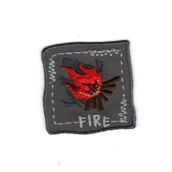 Patch Ecusson Thermocollant Fire Forest Nature 3,50 x 3,50 cm