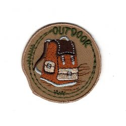 Patch Ecusson Thermocollant Sac à Dos Nature Outdoor 4,50 x 4,50 cm