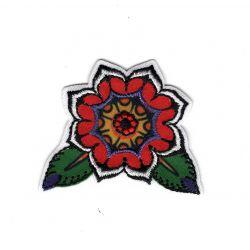 Patch Ecusson Thermocollant Fleur Inca 4 x 4,50 cm