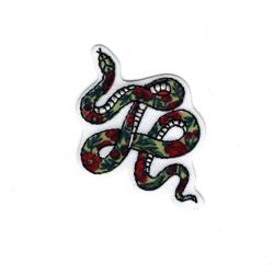 Patch Ecusson Thermocollant Serpent Inca 3 x 5 cm