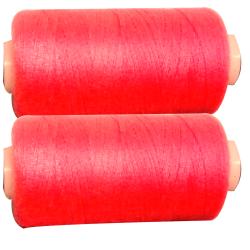 2 Bobines 500 mètres Polyester Coloris Fluo Rose Fil à Coudre