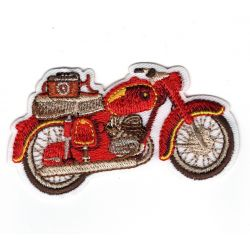 Patch Ecusson Thermocollant Moto Vintage 4 x 6,50 cm