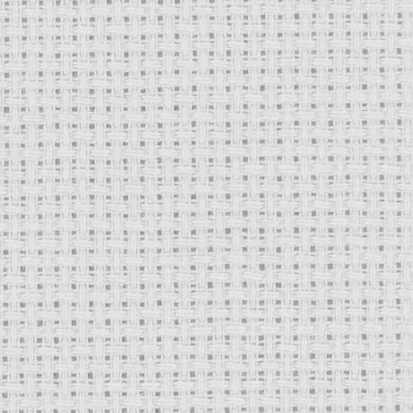 Coupon TOILE AIDA 5,50 points Coloris BLANC 39 x 49 cm point de croix