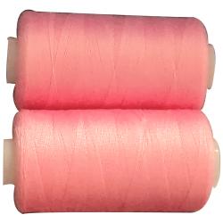 2 Bobines 500 mètres Polyester Coloris Rose Fil à Coudre