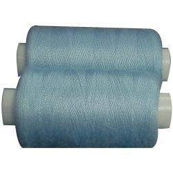 2 Bobines 500 mètres Polyester Coloris Bleu Ciel Fil à Coudre