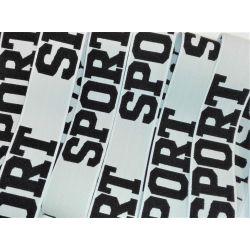 Elastique Sport 32 mm Coloris Blanc 2 METRES