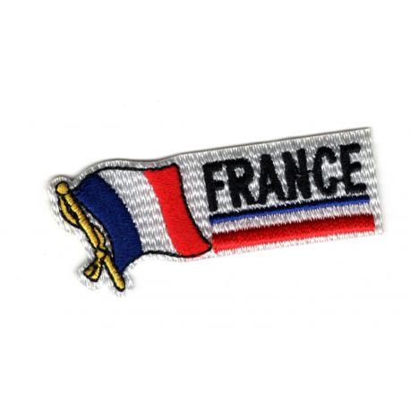 Patch Ecusson Thermocollant Drapeau Fanion France Flag 2,50 x 6 cm