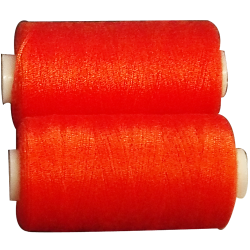 2 Spools 500 meters Polyester Colors Orange Sewing Thread