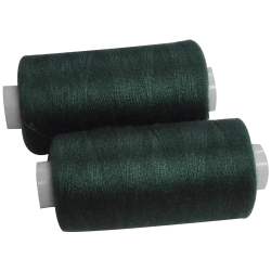 2 Bobines 500 mètres Polyester Coloris Vert Bouteille Fil à Coudre
