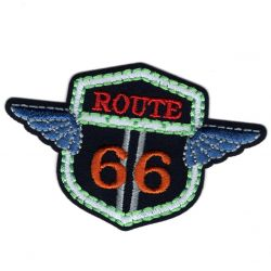 Patch Ecusson Thermocollant Route 66 Luminescent 4,50 x 7 cm