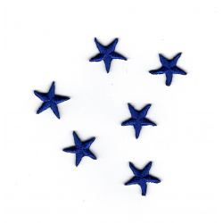 Patch Ecusson Thermocollant 6 Mini mini Etoiles Coloris Bleu 1 x 1 cm