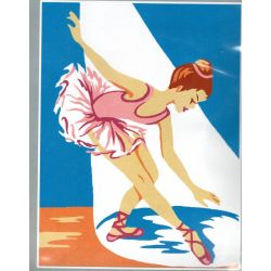Kit Canevas Danseuse Petite Ballerine en Tutu 14 x 18 cm