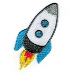 Patch Ecusson Thermocollant FUSEE de l'espace 4,50 x 8 cm