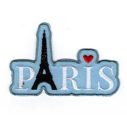 Patch Ecusson Thermocollant J'aime Paris Tour Eiffel 5,50 x 8 cm