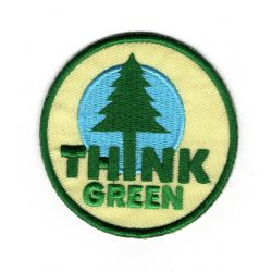 Patch Ecusson Thermocollant Sapin FORET Green 6 x 6 cm