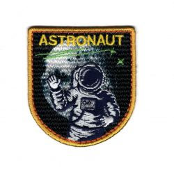 Patch Ecusson Thermocollant Astronaute Espace 5 x 5,50 cm
