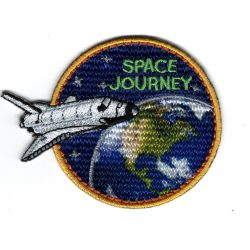 Patch Ecusson Thermocollant Space Journey FUSEE Espace 5,50 x 7 cm