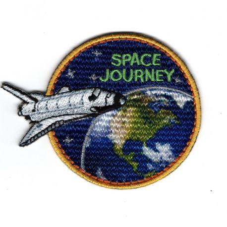 Patch Ecusson Thermocollant Space Journey FUSEE Espace 5,50 x 7 cm