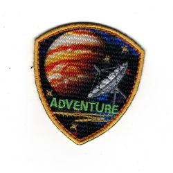 Patch Ecusson Thermocollant Space Adventure Satellite Planète 5 x 5,50 cm