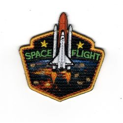 Patch Ecusson Thermocollant Space Flight FUSEE Explorer 5,50 x 6 cm