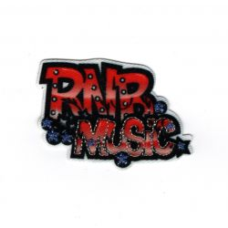 Patch Ecusson Thermocollant RNB Music Musique 3 x 5 cm