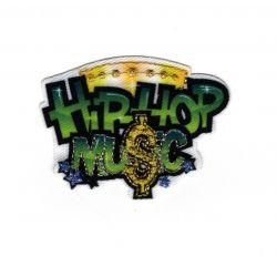 Patch Ecusson Thermocollant Hip Hop Music Musique 3,50 x 5 cm
