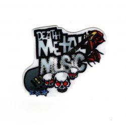 Patch Ecusson Thermocollant Death Metal Music Musique 4 x 5 cm