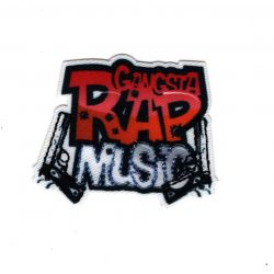 Patch Ecusson Thermocollant Gangstap Rap Music Musique 3,50 x 5 cm