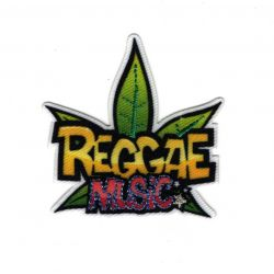Patch Ecusson Thermocollant Reggae Music Musique 4 x 4,50 cm