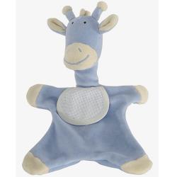 Doudou à Broder Point de Croix Girafe 28 cm Coloris Bleu