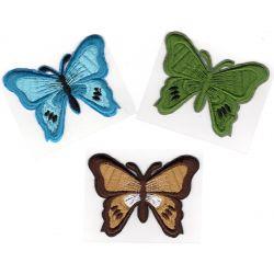 Patch Ecusson Thermocollant Lot de 3 Papillons 5,50 x 7 cm