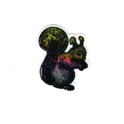 Patch Ecusson Thermocollant Ecureuil Nature Brillant 4 x 4 cm