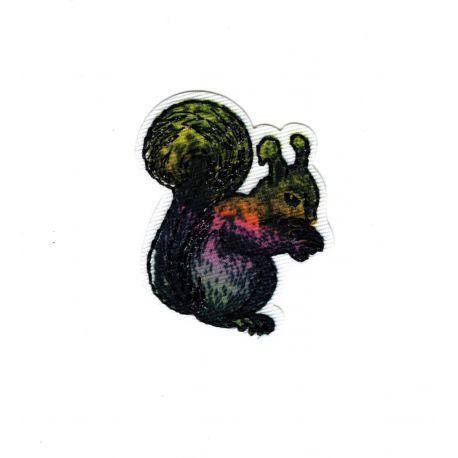Patch Ecusson Thermocollant Ecureuil Nature Brillant 4 x 4 cm