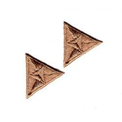 Patch Ecusson Thermocollant 2 x Mouche Triangle Coloris Beige 2,20 x 2,50 cm
