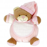 Doudou à Broder Point de Croix Ours Coloris Rose 17 cm