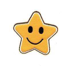 Patch Ecusson Thermocollant Etoile Star Smile 5 x 5 cm