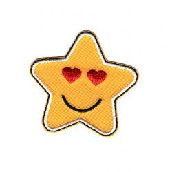 Patch Ecusson Thermocollant Etoile Star Smile Coeur 5 x 5 cm