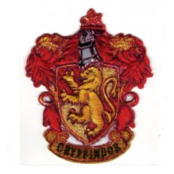 Patch Ecusson Thermocollant Harry Potter Blason Gryffondor Gryffindor 6,50 x 8 cm