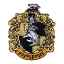 Patch Ecusson Thermocollant Harry Potter Blason Poufsouffle Hufflepuff 6,50 x 8 cm
